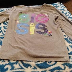 Size 7/8 big sis long sleeve shirt